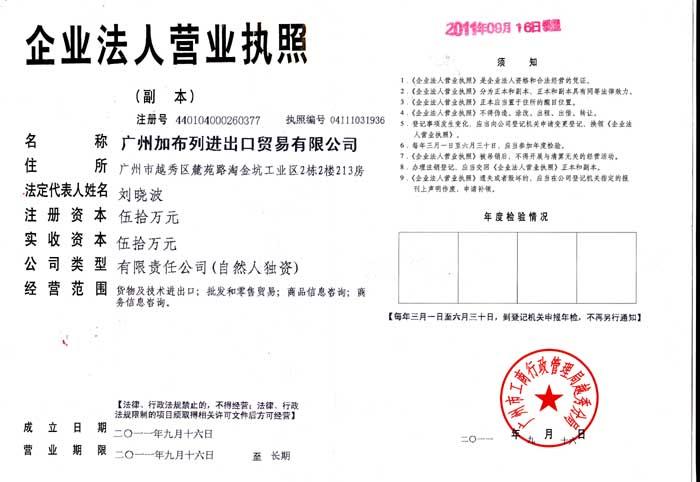 Guangzhou biznis licenca