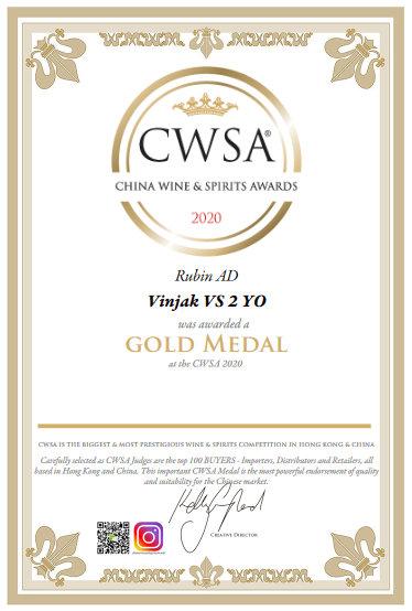 vinjak vs 2yo zlatna medalja u Kini